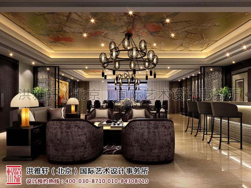 沙发区简约中式装修宾馆