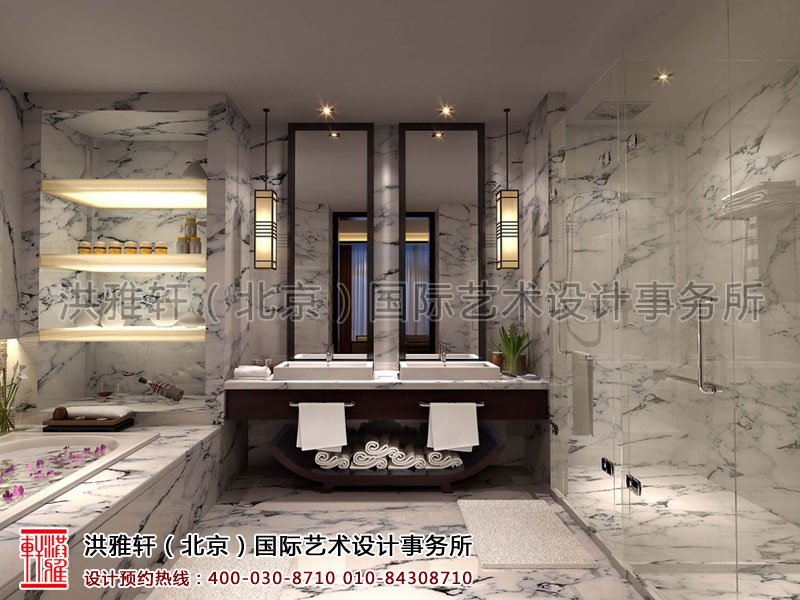 卫生间宾馆简约中式装修