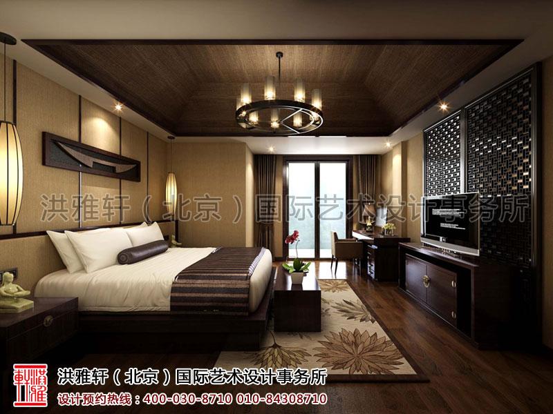 宾馆单人客房简约中式装修