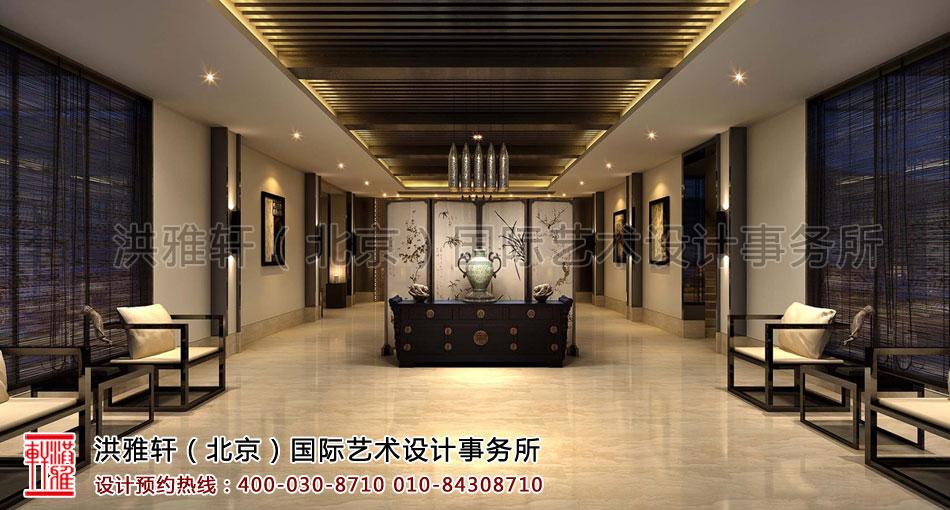 大厅视角新中式装修客栈