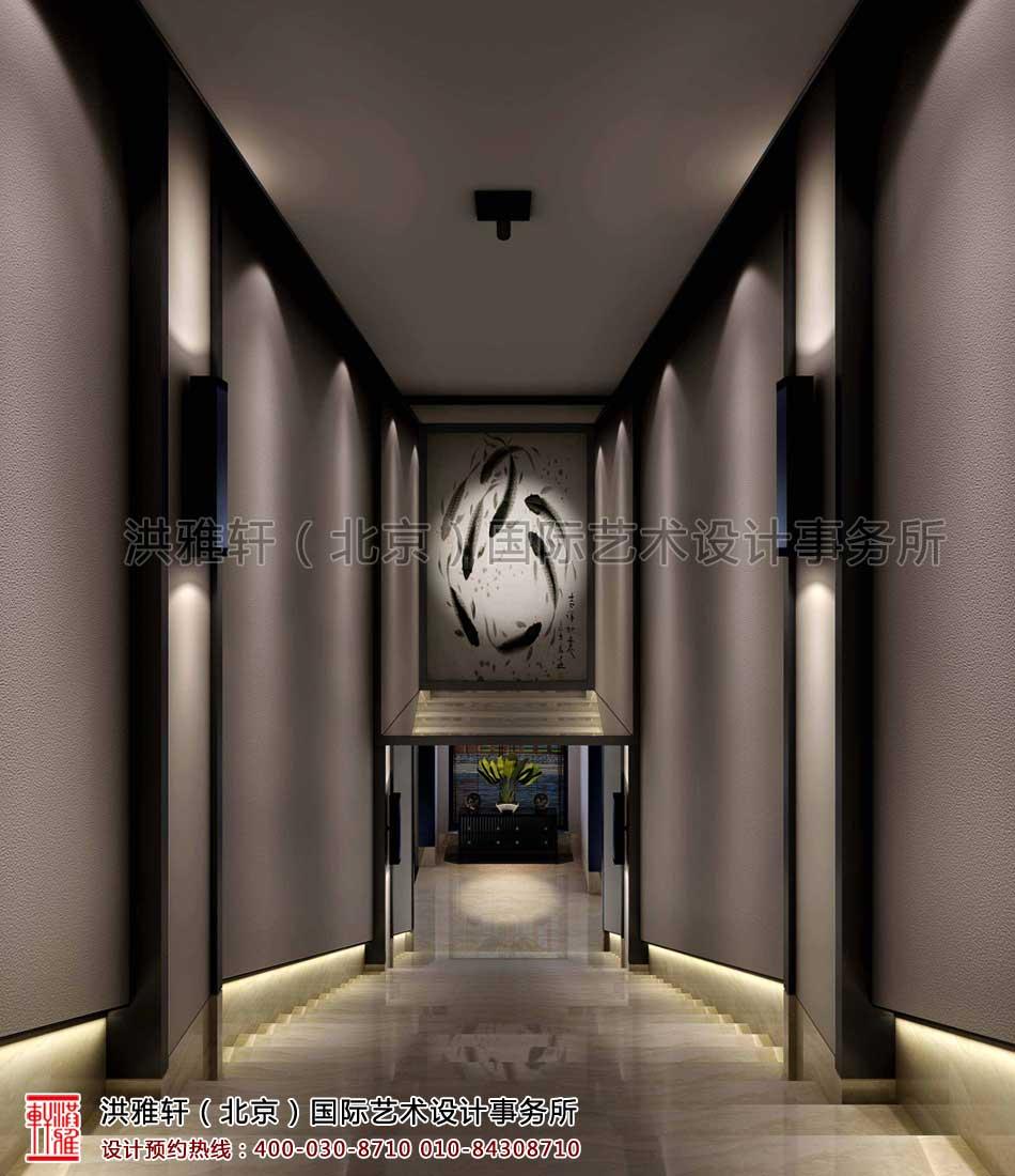 楼梯新中式装修客栈