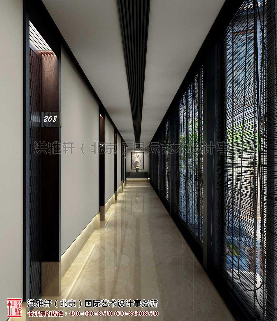 廊道-客栈新中式装修风格