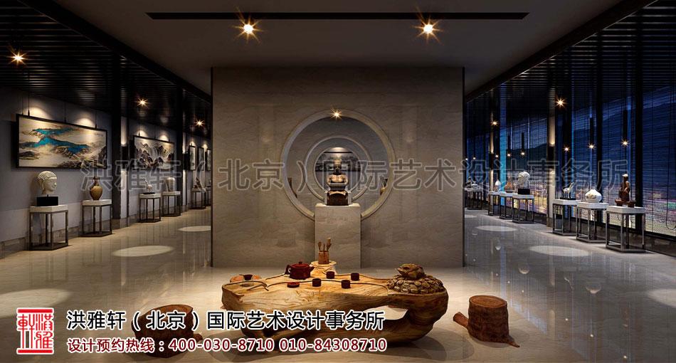 展厅视角新中式装修客栈
