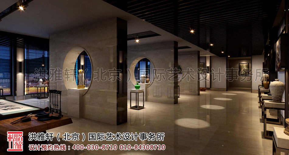 展厅新中式装修客栈
