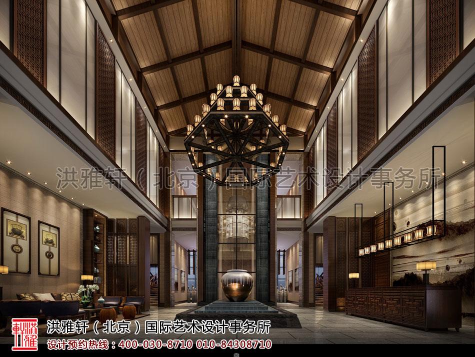 酒店餐厅新中式装修大堂