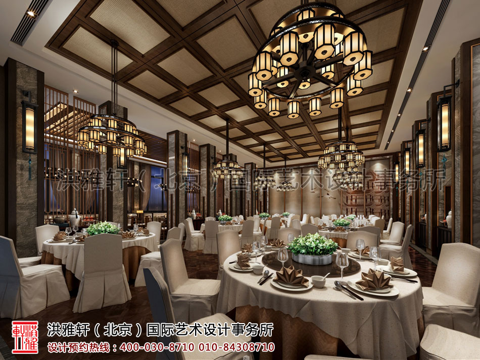 就餐区新中式装修风格酒店餐厅重庆