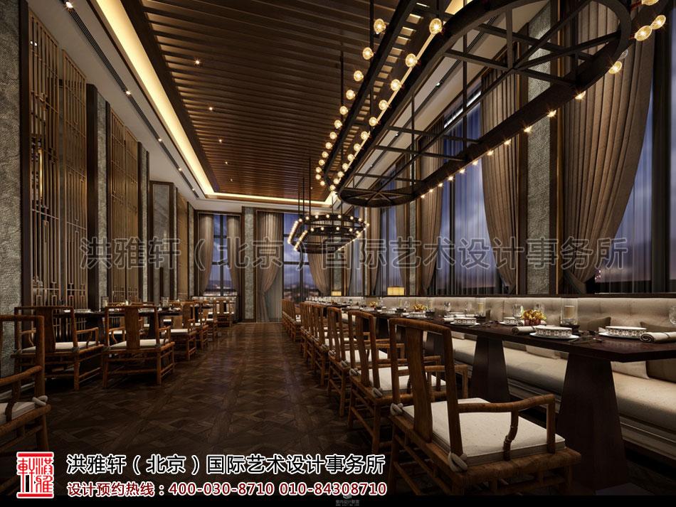 就餐区酒店餐厅新中式风格