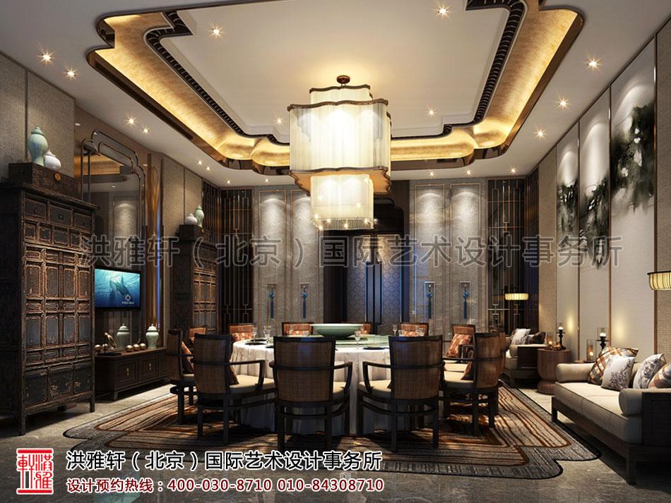 包间重庆酒店餐厅新中式装修风格