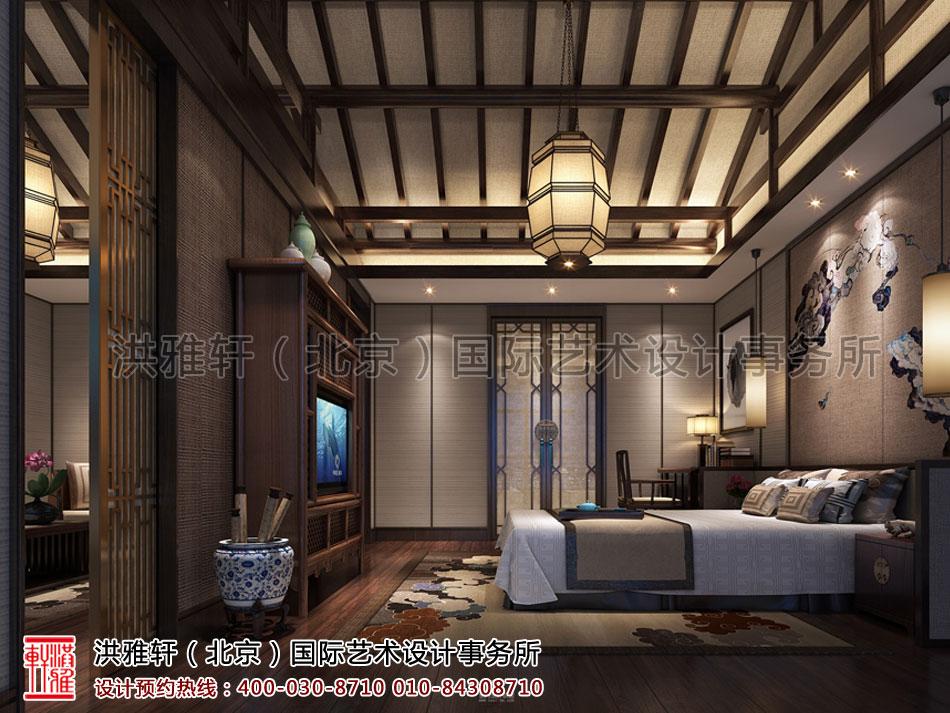 酒店中式装修餐厅新中式风格卧室