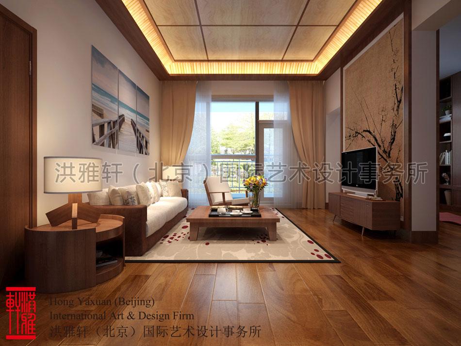 简约中式装修住宅起居室