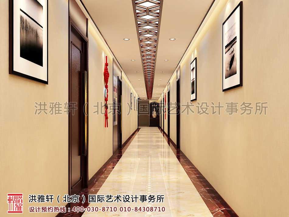 新古典中式装修办公室门厅