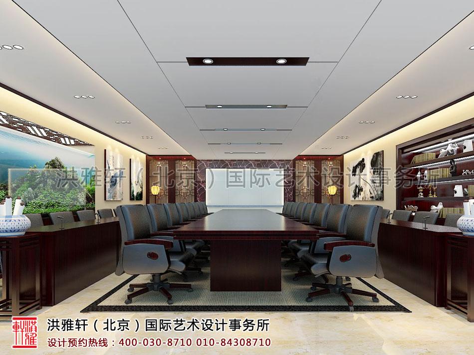 新古典中式装修办公室会议室