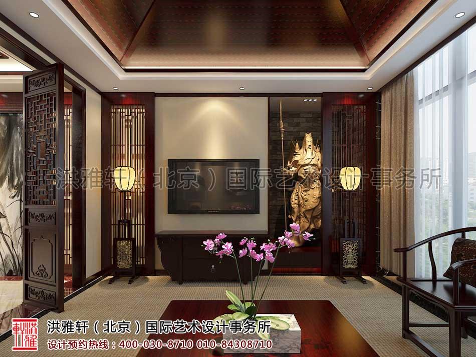 新古典中式装修办公室接待室