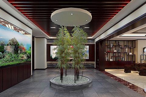 河北办公室新古典中式装修——清雅舒适,古韵芬芳