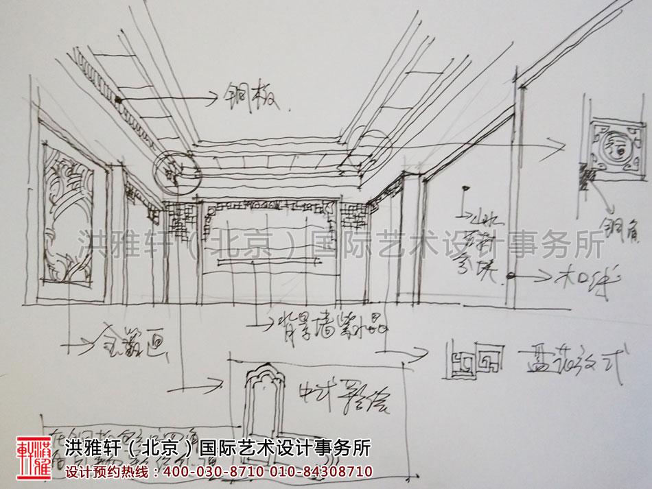 手稿精品住宅古典中式装修