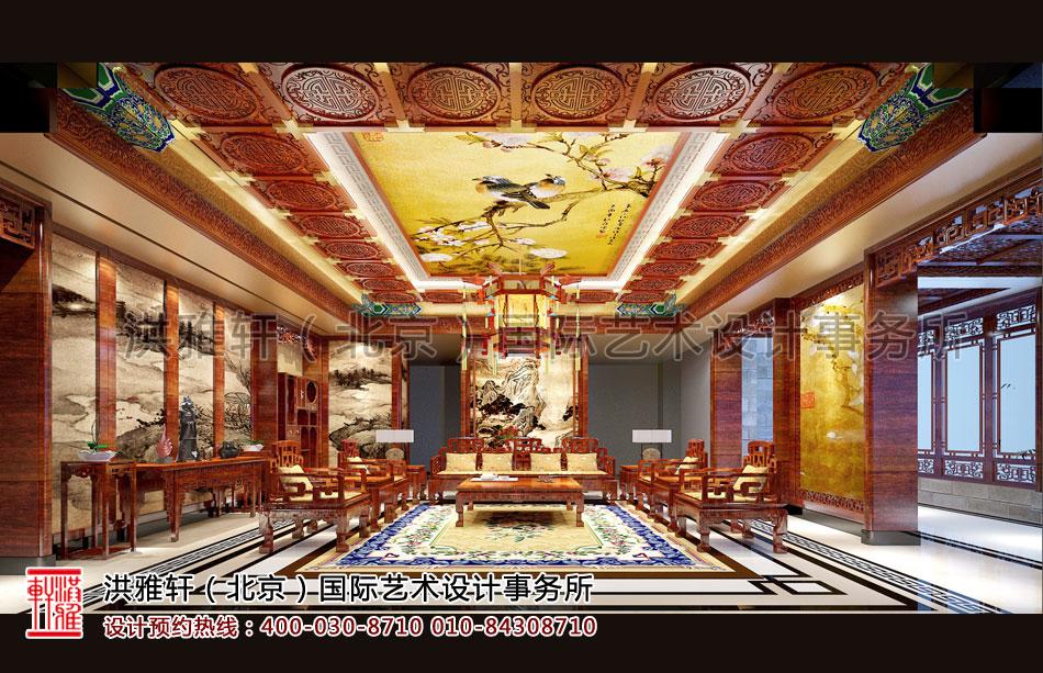 客厅古典中式装修安岳精品住宅
