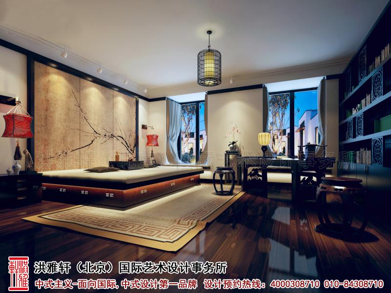 卧室简约中式装修精品住宅北京