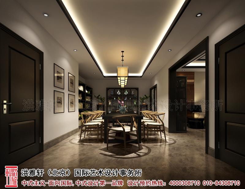 餐厅新中式装修复式楼泊头