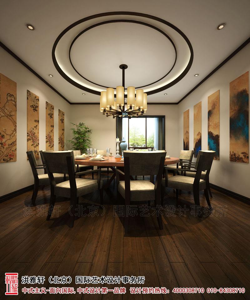 餐厅泊头新中式装修复式楼
