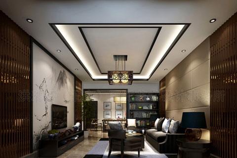 泊头付总复式楼新中式装修,时尚的古典风韵