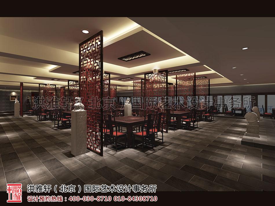 就餐区古典中式装修济南餐厅