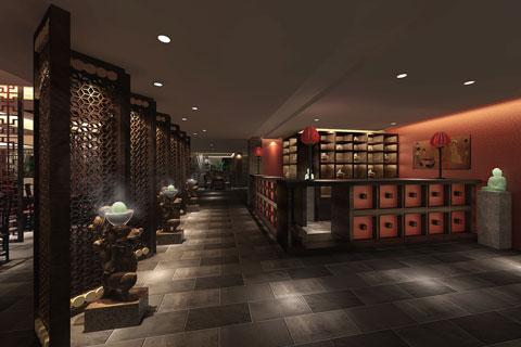 济南古典中式餐厅装修效果图——刚健雄伟,朴拙大方