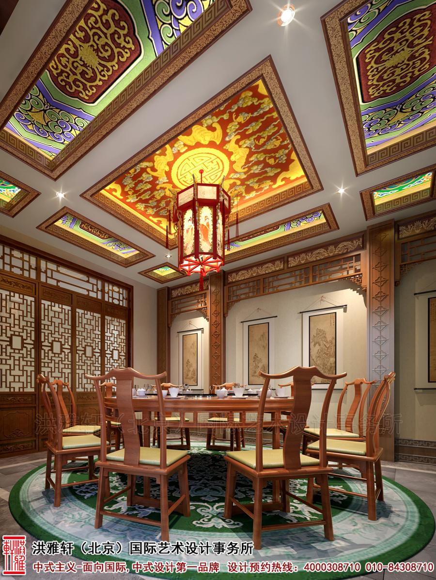 宫廷建筑设计为依据,再结合独具匠心的现代中式设计笔法,糅合木窗格栅图片