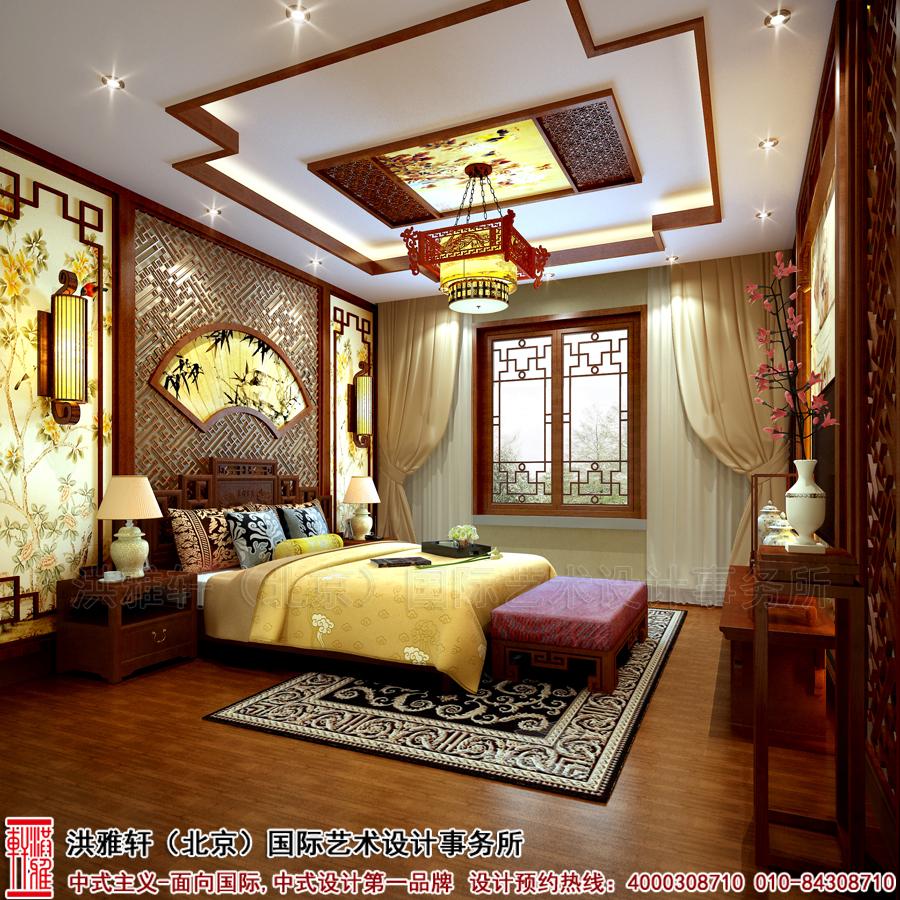 别墅卧室古典中式装修安徽
