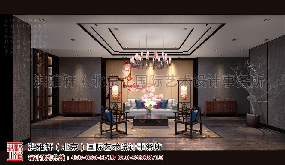 休闲室新古典中式装修茶楼