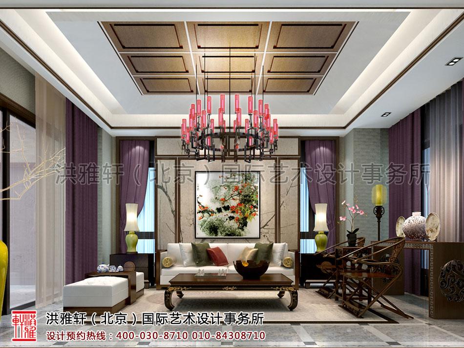 客厅南昌住宅新中式设计