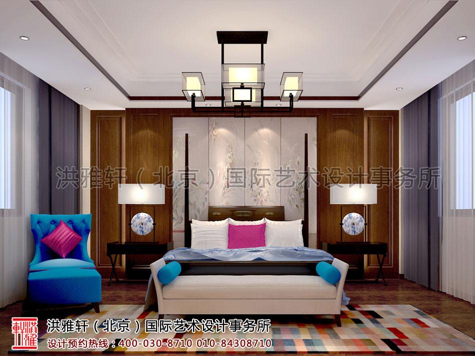 卧室新中式设计住宅南昌