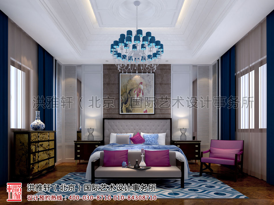南昌精品住宅卧室新中式设计