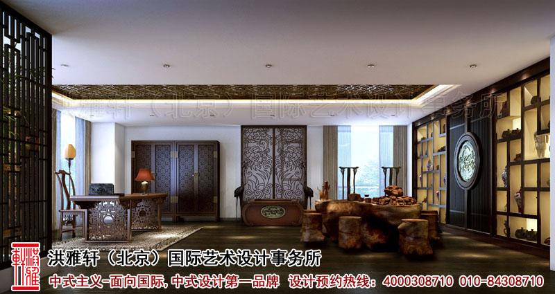 北京香山李总四合院古典中式装修茶室