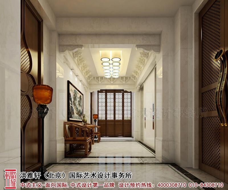 电梯厅北京香山李总四合院古典中式装修