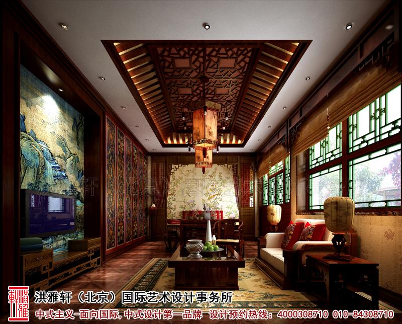 北京香山李总四合院卧室古典中式装修