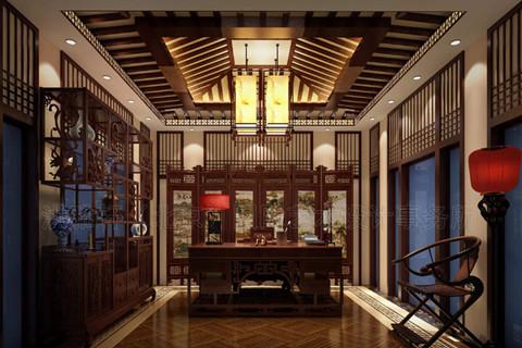 南京高端会所古典中式设计案例——气派俊美,质朴秀丽