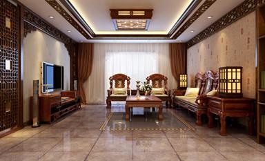 打造一个预防天灾吸引福气的中式装修客厅