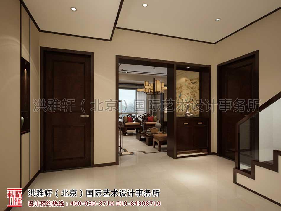 复式楼门厅现代中式风格