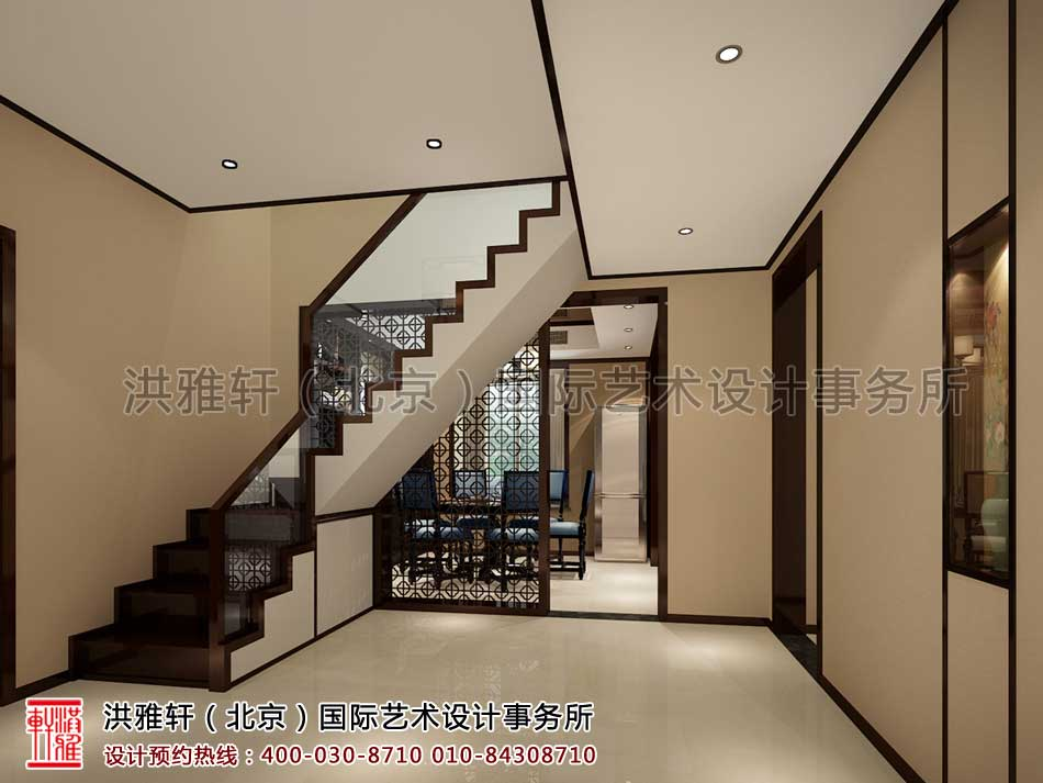 门厅现代中式风格复式楼
