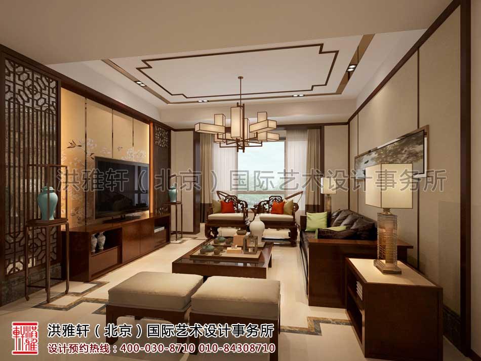 客厅现代中式风格复式楼