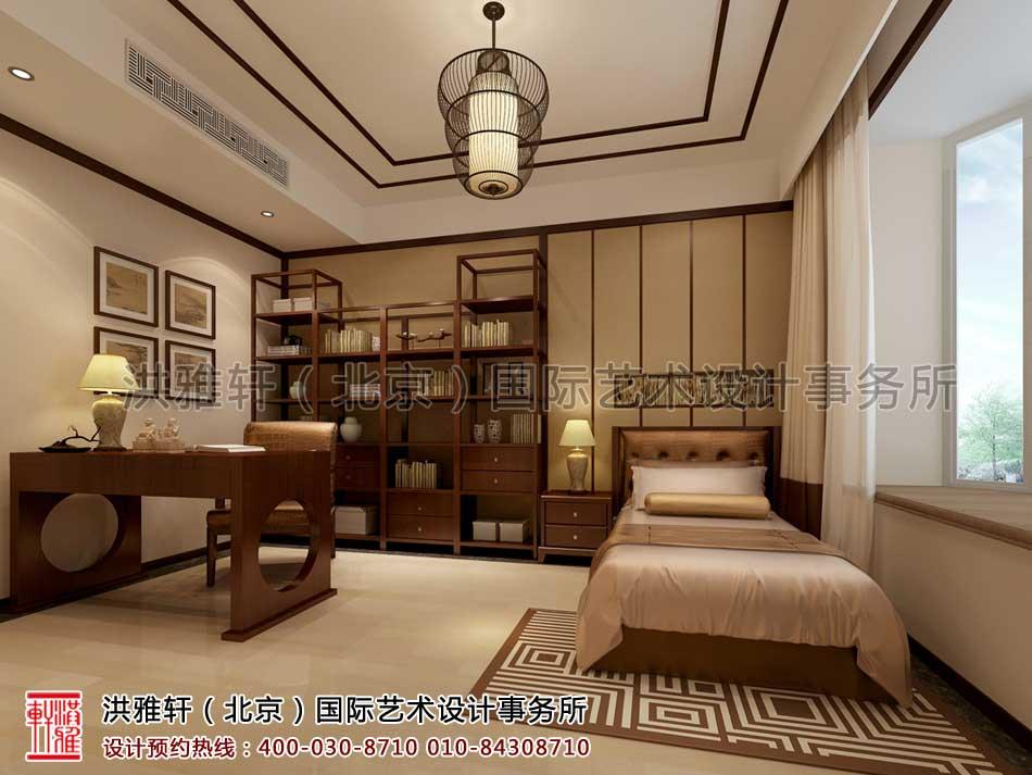复式楼书房现代中式风格