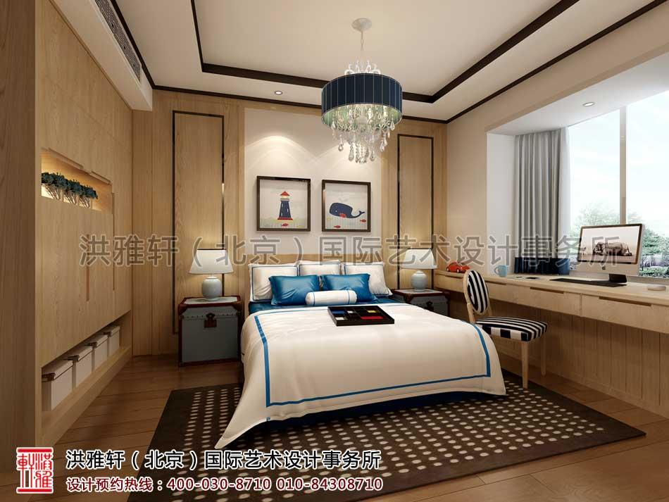 复式楼卧室现代中式风格