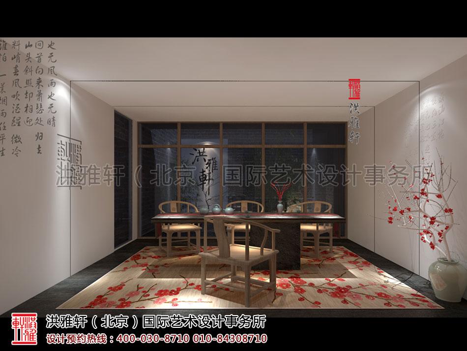 简约中式风格禅茶室设计图片