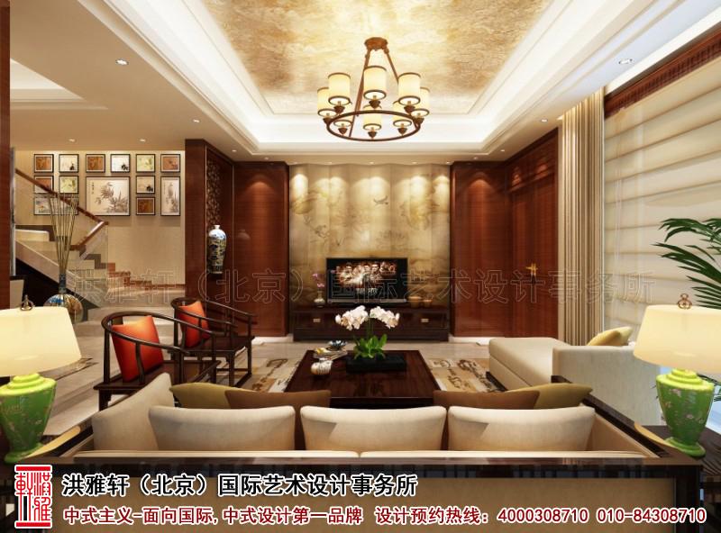 复式住宅客厅古典中式装修