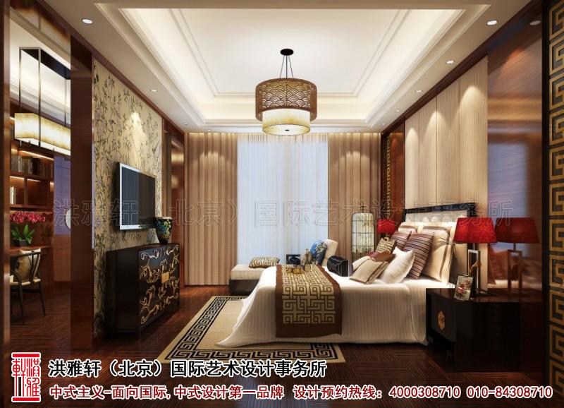 卧室古典中式装修复式住宅