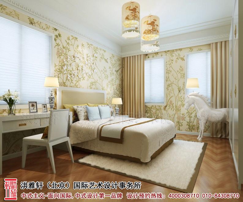 古典中式装修复式住宅卧室