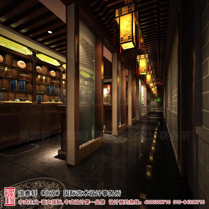 走廊南京茶庄古典中式装修