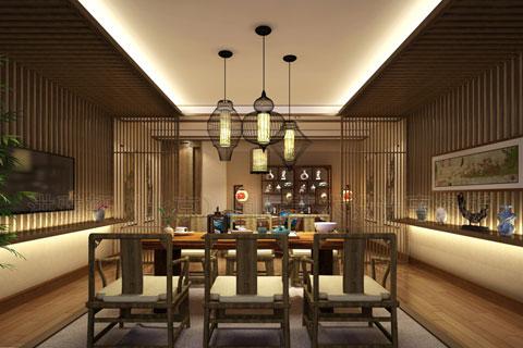 南京茶庄古典中式装修案例,追寻那一抹专属隐士的高洁