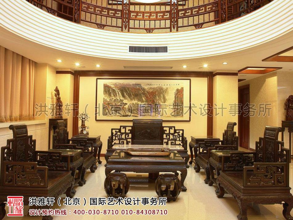 客厅现代中式装修复式楼