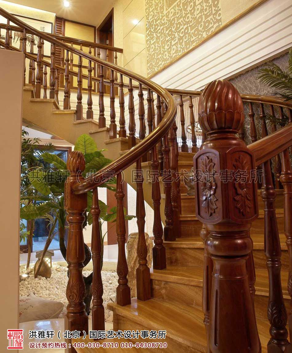 楼梯间现代中式风格设计复式楼
